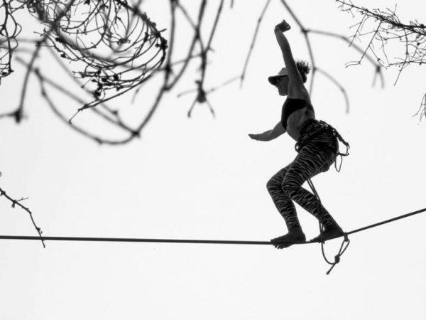 Highline – Příprava nízko nad zemí